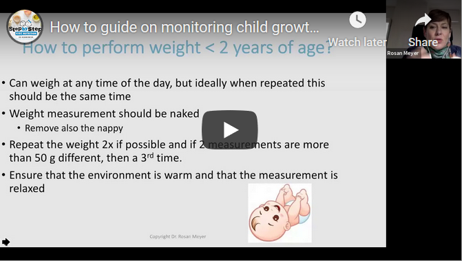 How to guide on monitoring child growth at home