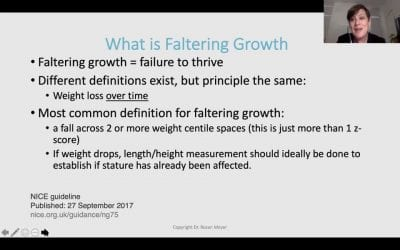 Dietary management of faltering growth – Webinar with Rosan Meyer